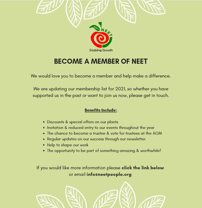 Become a member of NEET, benefits and advantages.